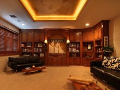 Office Library - mediterranean - home office - miami - Browns Interiors Design Home Office Design, House Design, Nautical Office, Brown Interior, Tuscan House, Mediterranean Homes, Living Room Inspiration, Interior Design, Furniture