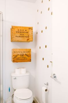Bathroom storage crates
