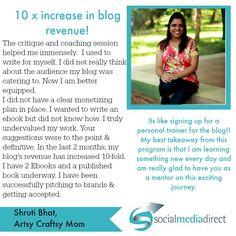 Shruti of ArtsyCrafty Mom increased her revenue, brand presence and more!!