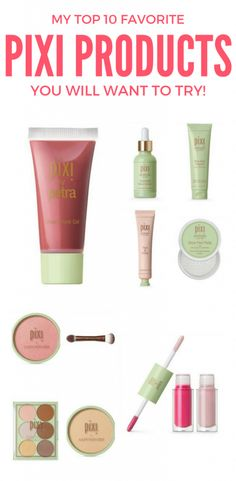 Have you tried any Pixi Products yet? If not, you're missing out! From their makeup to their skin care, I am in love with it all. The skin care makes my skin glow and the makeup enhances the glow. Here are my top 10 most favorite Pixi products I think you'll want to try.