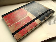 Gorgeous handmade journal out of recycled materials. Uber nice!