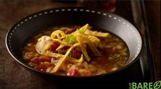 Chicken Tortilla Soup with Roasted Corn Recipe