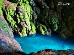 Iris Cave, Monasterio de Piedra Natural Park, Zaragoza, Spain.  #love #travel #Aragón #Spain #nature #parks #cave