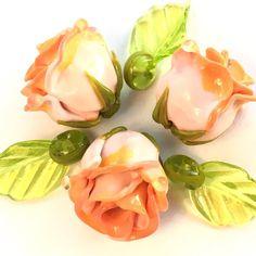 #flowers #roses #beads #glass #lampwork #petrovnalampwork #my365beads2016
