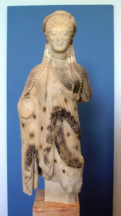 Kore from Chios, ca. 520 BCE. Marble, height 55.3 cm. Akropolis Museum, Athens.