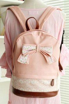 PU Lather Backpack Hipster Backpack Girls Backpack Canvas Backpack Pink