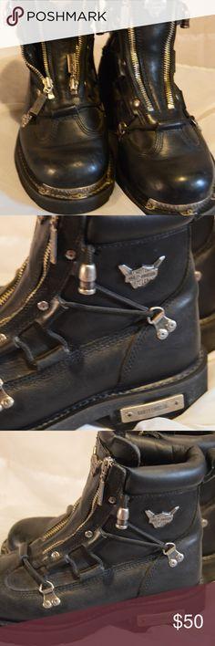 Women's Harley Davidson Boots 9 For sale on Ebay   http://www.ebay.com/itm/182700300831?ssPageName=STRK:MESELX:IT&_trksid=p3984.m1555.l2649 Harley-Davidson Shoes Lace Up Boots