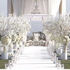 All white wedding ceremony. Wedding Goals, Wedding Themes, Wedding Colors, Wedding Styles, Dream Wedding, Wedding Dresses, Wedding Ideas, Wedding Ceremony, Wedding Venues