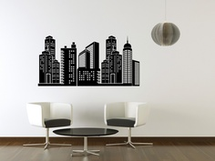 Vinyl Wall Art Decal City Skyline. $49.95, via Etsy. (For the bottom of the mirrored closet in HL's room so he can look in the mirror and play Godzilla.)