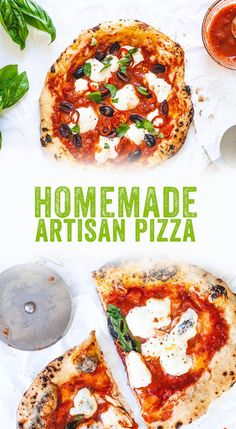 Want to make incredible artisan pizza at home? We have you covered with everything you need, from flour and ovens to that perfect dough recipe! #pizza #italy #diy #homemade #pizzaoven Healthy Food Options, Healthy Eating Recipes, Whole Food Recipes, Vegetarian Recipes, Vegetarian Pizza, Healthy Pizza, Delicious Recipes, Artisan Pizza Crust Recipe, Flatbread Pizza Recipes