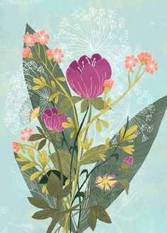 Flowers 2 on Behance by Sveta Shendrik