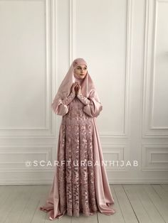 Blush pink silk satin maxi dress with long sleeves, Muslim dress , nikkah wedding outfit, elegant hijab #hijab #hijabfashion #hijabstyle #nikkah #muslimwedding #muslimweddingdresses #weddinghijab