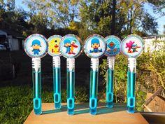 12 POCOYO party favors, bubble wands birthday /burbujitas fiesta niños #Pocoyo #BirthdayChild