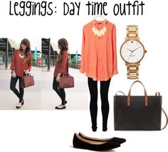 Leggings outfit for day time!