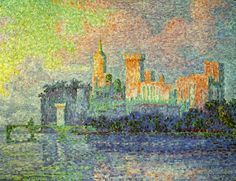 """Pointillism is one of my favorite forms. I live the vibrant colors of this piece by Signac and of course """"Sunday at La Grande Jatte"""" by George Seurat but some of the new work i've seen is quite nice as well. I once saw a piece done by someone that worked in a doctors office. I always looked at it when I was there and it just seemed like so many tiny dots. I finally asked to see it one day and found out that the dots where actually quite large."""