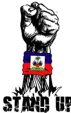 Haiti flag stand up Haitian Tattoo, Haitian Art, Revolution Tattoo, Haiti History, Haitian Revolution, Haiti Flag, Haitian Creole, African Babies, Caribbean Art