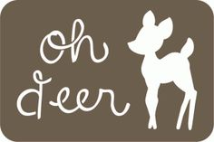 Silhouette Online Store - View Design #49627: oh deer 4 x6 journaling card