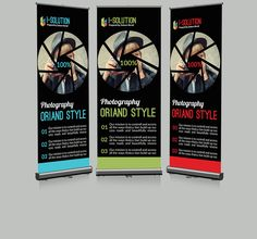 Photography Roll Up Banner by Leza on Creative Market