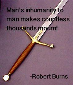 In honour of Scotland's son. Robert Burns