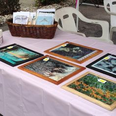 Handmade cards, framed canvas photographs