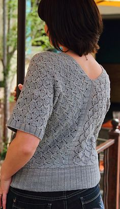 Shawl Cardigan- looks like the sweater my friend made from bison yarn. Looks very nice on her.