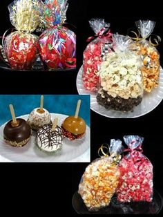 Candies, Caramel Apples, Popcorn and more!