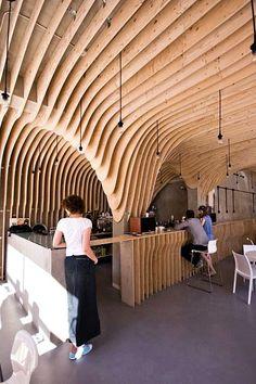 Artistic Cafe Interior Designs: Zmianatematu Coffee Shop by XM3 - Poland | DesignDaily