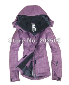 Free shipping 2012 womens snowboarding jacket best skiing clothing for women ski suit girls anorak parka silver grid purple on AliExpress.com. $110.45