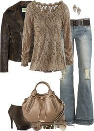 """Leather/Lace by partywithgatsby on Polyvore"""" data-componentType=""""MODAL_PIN"""