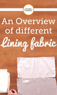 Christina Patzman talks about which types of lining are appropriate for various fabrics. She goes into detail about why the hang loose (polyester) and ambiance (bemberg rayon) are her favorites and discusses when you should use them. You will also learn about non-traditional lining fabrics such as pongee, china silk, and taffeta.