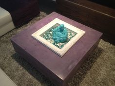 Purple Concrete Coffee Table without LED lighting