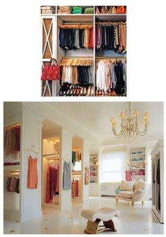 What i would do for a closet that big!