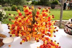 fruit kabobs, food, backyard parties, brunch