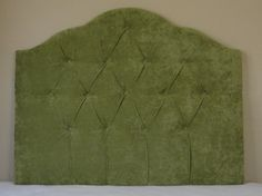 Tufted Headboard - olive green velvet full size