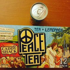 Only one can left of my 12 pack of ✌Peace✌ Tea left. So good. ❤ #tea #peacetea #peace #delicious #lemonade #caddyshack #yummy