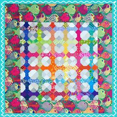 Under the Sea going under my needle today.  #funwithbarb #quiltsofinstagram #machinequilting #funwithbarbswap2015 #bowtieswap #funfabrics Bright Quilts, Tie Quilt, Animal Quilts, Machine Quilting, Under The Sea, Applique, Bow Ties, Bows, Blanket