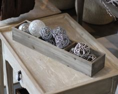 Crates and Pallet Divided Box is perfect for displaying similar products in different finishes or flavors.  Great by a register for a last minute sale add on.