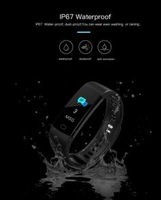 Goral Y5 0.96inch Color Screen Blood Pressure Heart Rate Monitor Sport Bluetooth Smart Wristband Wearable Device, Heart Rate Monitor, Watch Sale, Blood Pressure, Bluetooth, Technology, Sport, Color, Blue Tooth