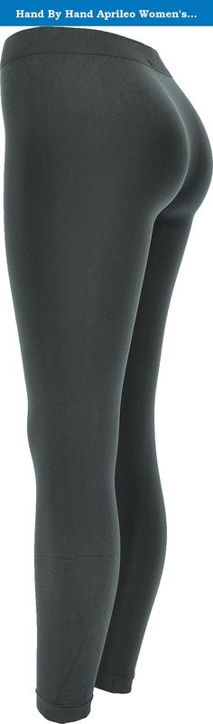 Hand By Hand Aprileo Women's Leggings Solid Ultra Stretchy Soft Basic Full Length [Charcoal](One Size). Ultra stretchy and comfortable soft, skin-friendly fabric and skinny. Essential for work, or simply relaxing. Perfect for whole day, from day to night. One Size Fits Most (XS to XL). inseam: 27, front rise: 9, back rise: 9-1/2, waist: 23 - 42, hip: 27 - 44. Material: 92% Nylon, 8% Elastane. product model #: LG490135.