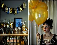 omg! loving this party via Bottle Pop Parties. The theme? - Roaring 20s = Awesome!