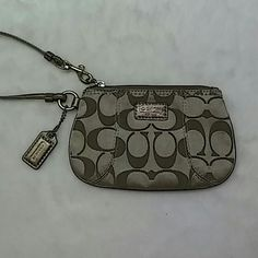 Authentic Coach Wristlet Beautiful gold wristlet in great shape. Coach Bags Clutches & Wristlets