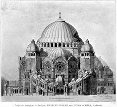 Design for a synagogue, Budapest