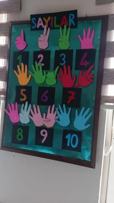 Good way to help the kids get numbers visually. Preschool Classroom, Classroom Decor, Kindergarten, Gross Motor Activities, Kids Learning Activities, Diy And Crafts, Crafts For Kids, Learning Sites, Memory Crafts