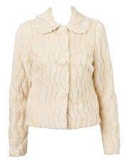Cream Russian Winter Faux Fur Coat, Tokito