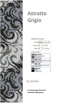 Astratto grigio Peyote Stitch Pattern