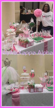 AKA|Candy Buffet|Pink & Green Candy|Sorority|Alpha Kappa Alpha