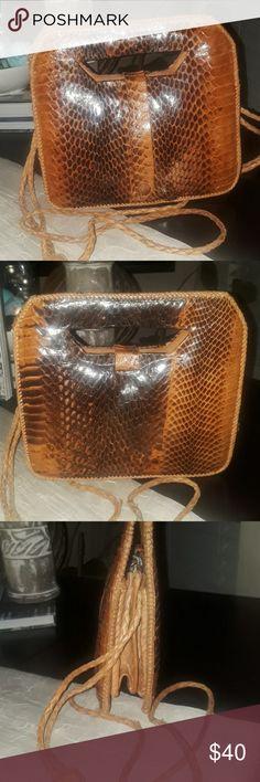 8ef0d09ef6fa Genuine Snakeskin Crossbody Bag Thus great little snakeskin crossbody bag  is envogue with braided leather strap