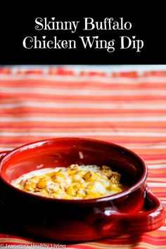 Skinny Buffalo Chicken Wing Dip - this lightened up version of a favorite is a winner!