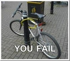 dumb people. At least he remembered the padlock.