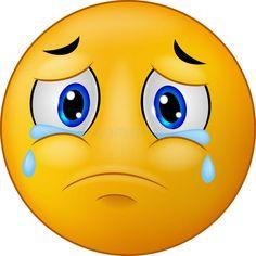 Foto über Illustration traurigen Emoticon smiley der Karikatur. Illustration von smiley, scream, sorge - 46947831